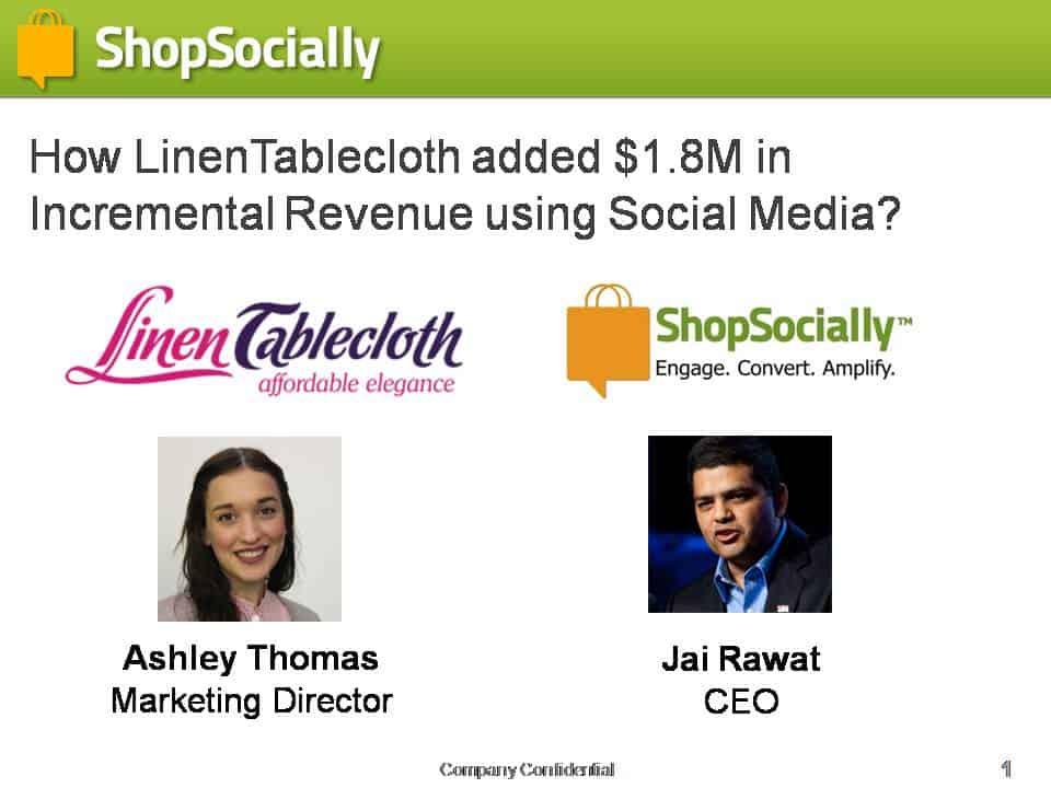 LinenTablecloth Social Commerce Webinar