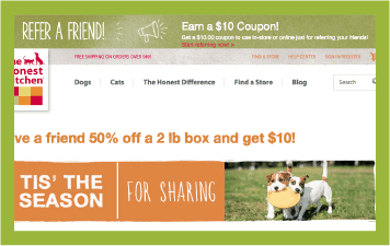 Referral program - The Honest Kitchen case study