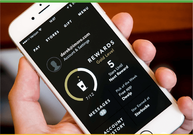 Starbucks Loyalty Rewards Program Mobile App
