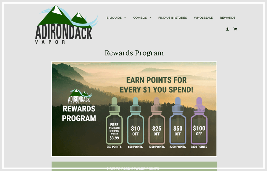 Adirondack Loyalty Rewards Program_Zinrelo