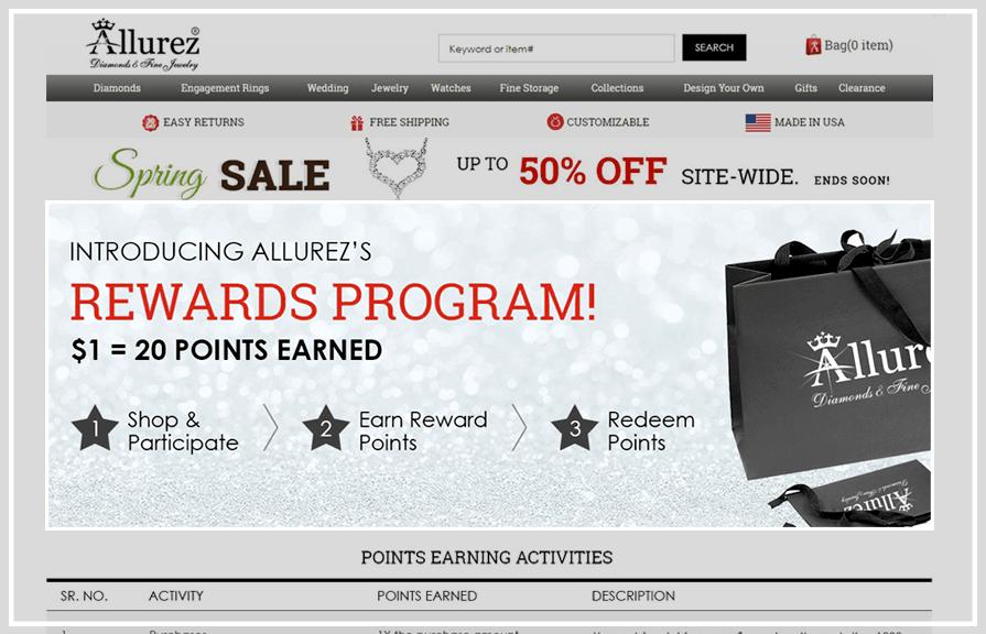 Allurez Loyalty Rewards Program_Zinrelo