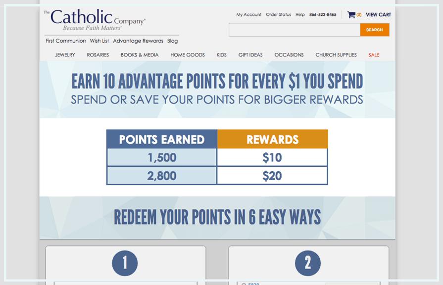 Catholic Company Loyalty Rewards Program_Zinrelo