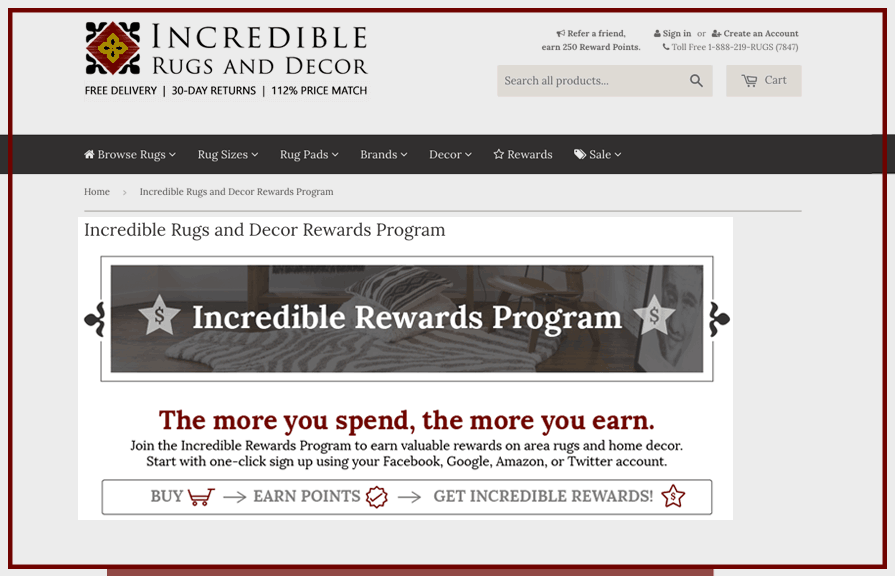 incredible rugs and decor loyalty rewards