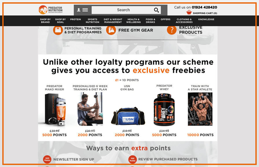 Predator Nutrition Loyalty Rewards Program_Zinrelo