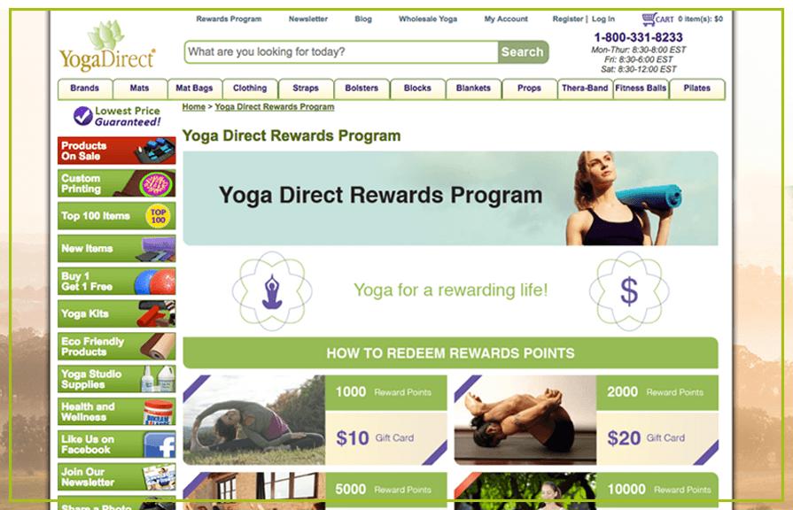 Yoga Direct Rewards Program - Banner